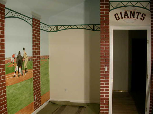 Kids Room Design Baseball Field