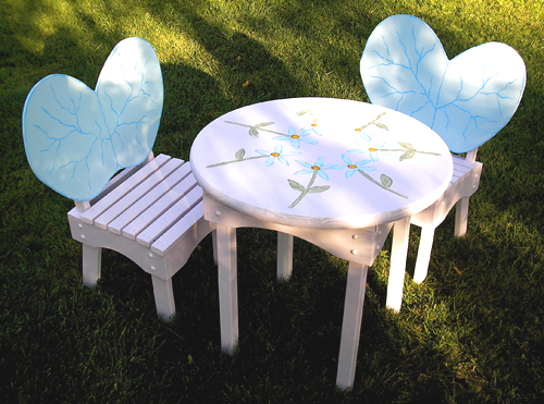 Fairy Wing Chairs Flower Table